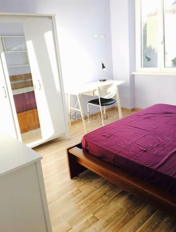 Clean modern room close to the metro