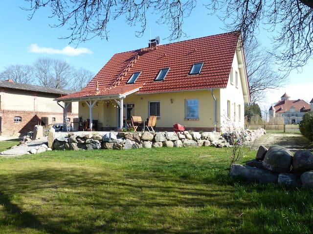 Gästezimmer mit Schlossblick auf Usedom
