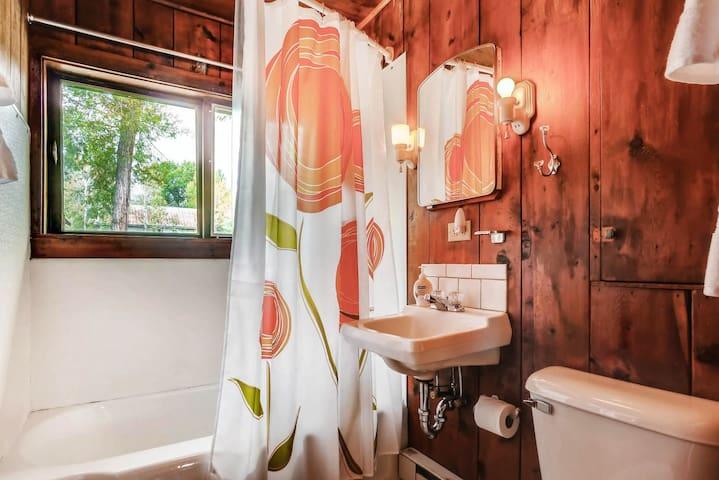 Bathroom; IT even has a window!