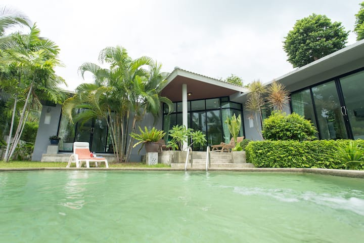 2 Bedroom private pool villa green environment