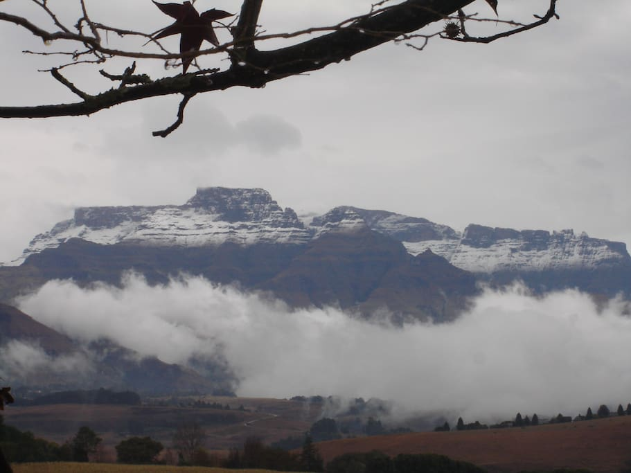 Our winter mountains from the garden