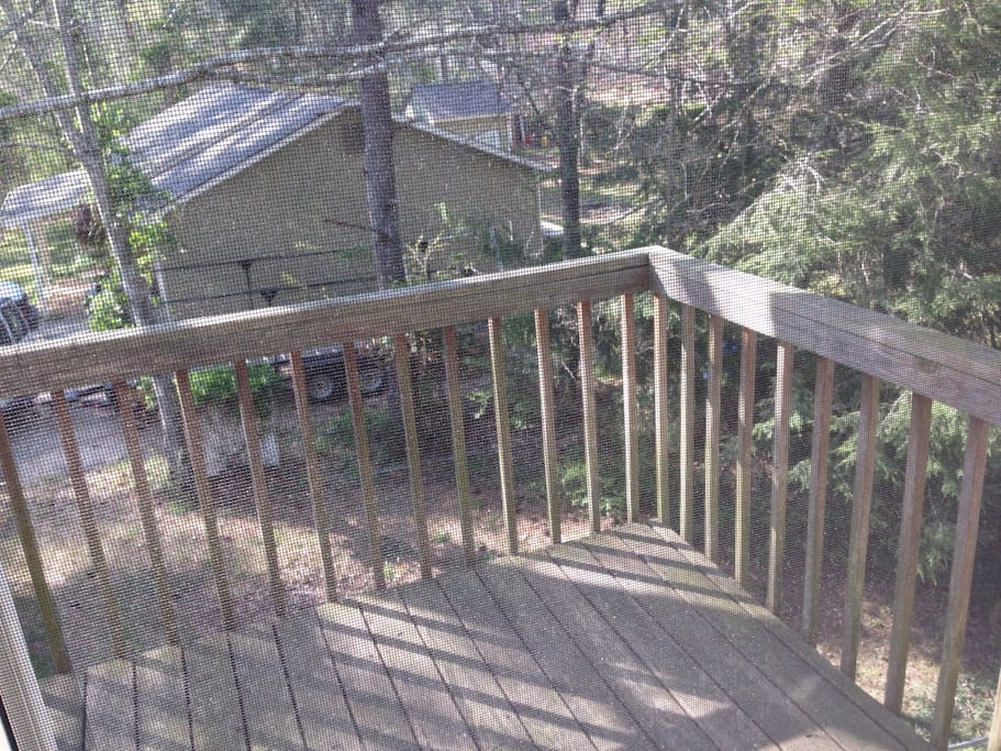 Listen to the songbirds from your private deck!