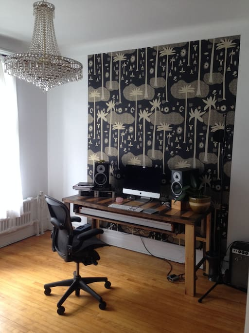 main desk with Herman Miller office chair