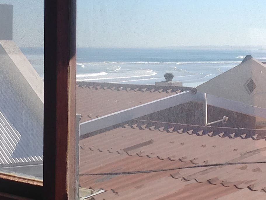 Sea view from upstairs living room