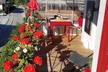 Le balcon pour votre petit déjeuner si le temps est adéquat