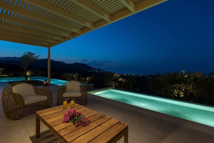 Sit, drink and chat by the pool with unobstructed views
