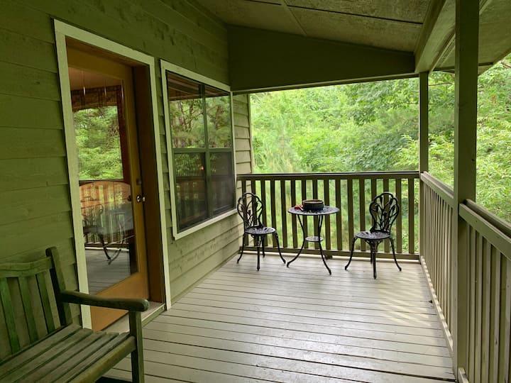 Honeymoon cabin: jacuzzi, kitchen, private deck!
