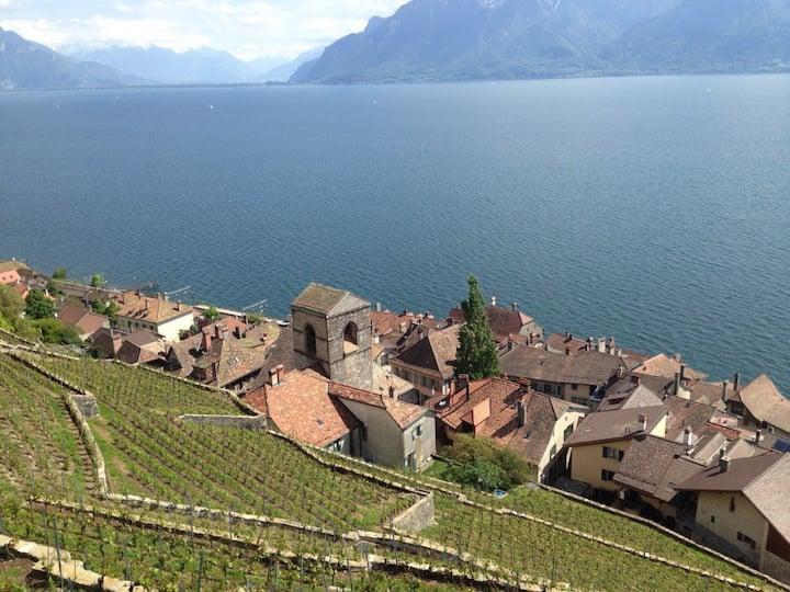 Appartement avec vue sur le lac et les montagnes !
