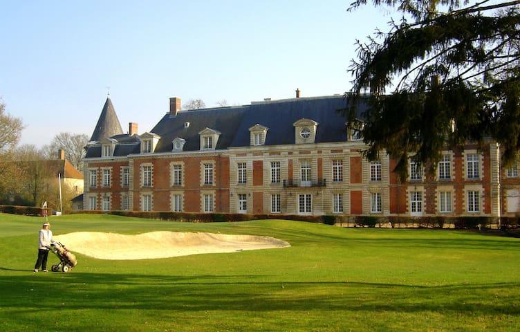 Chambre de charme dans un château sur golf 18 T. - Monchy-Humières - อพาร์ทเมนท์
