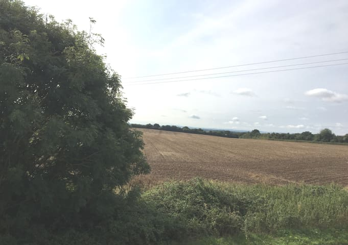 Your view of the Berkshire countryside from your bedroom window.
