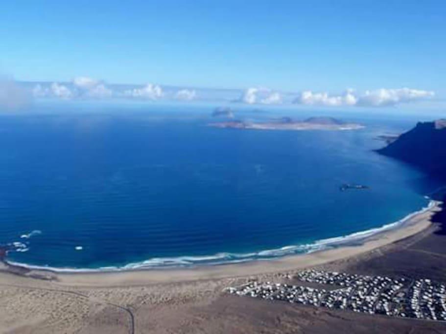 Vista del Archipielago Chinijo desde el Macizo de Famara