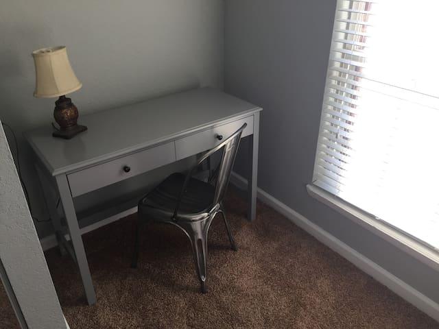 Workspace in all 3 queen bedrooms