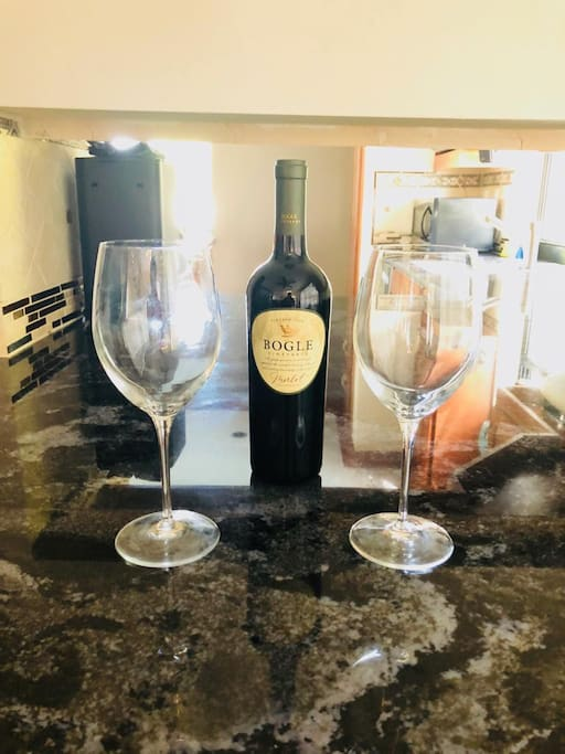 Your complimentary bottle of wine