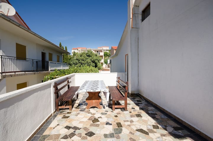 One bedroom Apartment, in Lopar - island Rab, Terrace