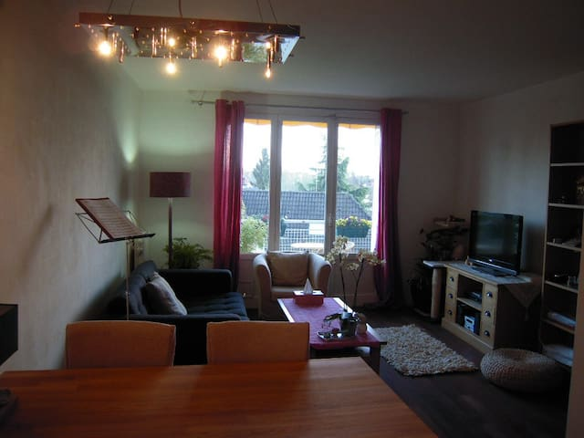 CHAMBRE F3 balcon à 10 min du centre ville Troyes - Saint-André-les-Vergers - Apartamento
