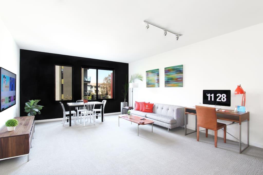 Luxurious Spacious Santana Row Apartments For Rent In San Jose Californ