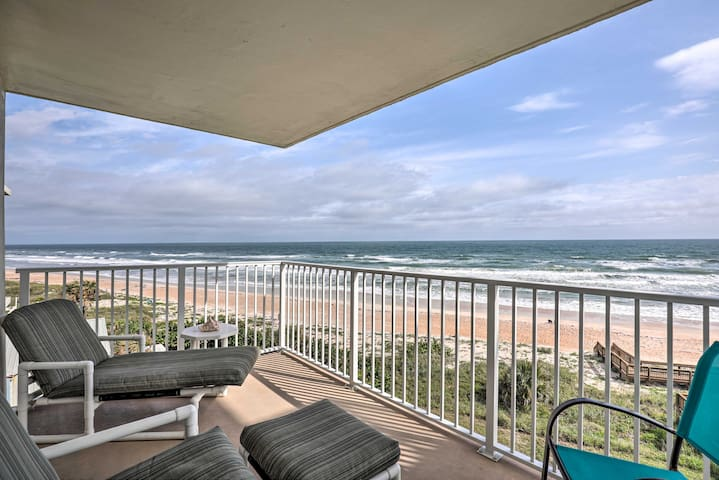Oceanfront Retreat w/Pool Steps From Ormond Beach!