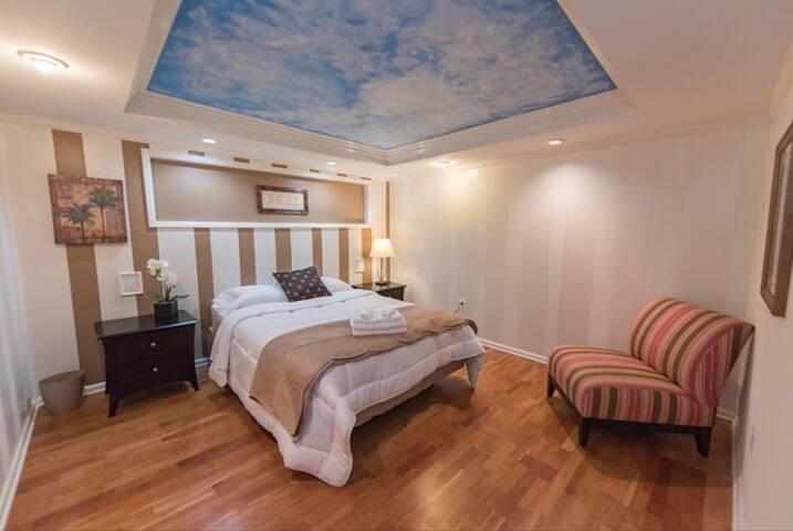 Downstairs master bedroom #2 - queen  bed.