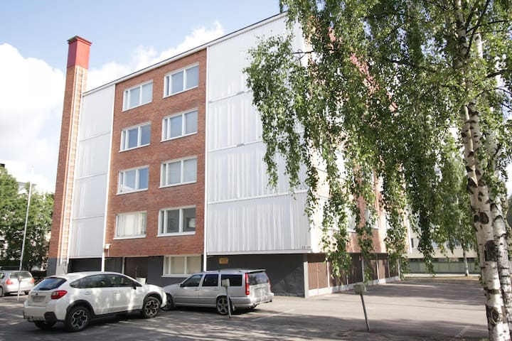 Two-bedroom apartment with a balcony in Oulu city center - Heikinkatu 22-24