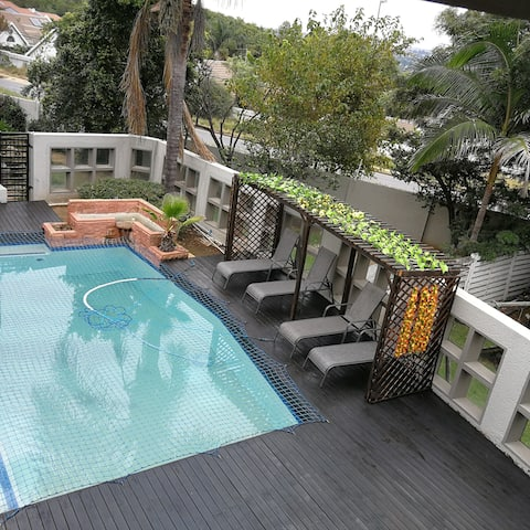 Tranquil pool to unwind and distress