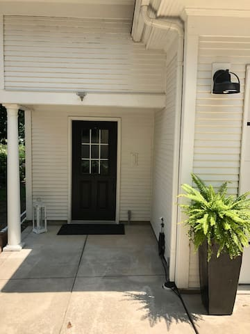 Private entrance to carriage  house.