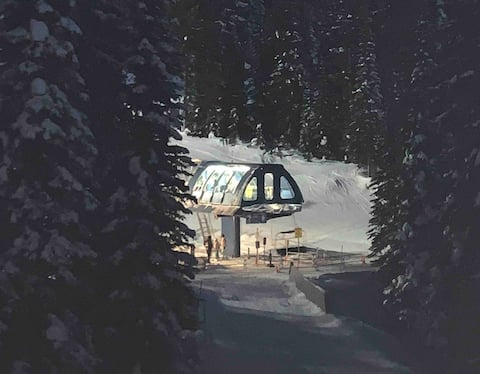 Ski lift right outside your door