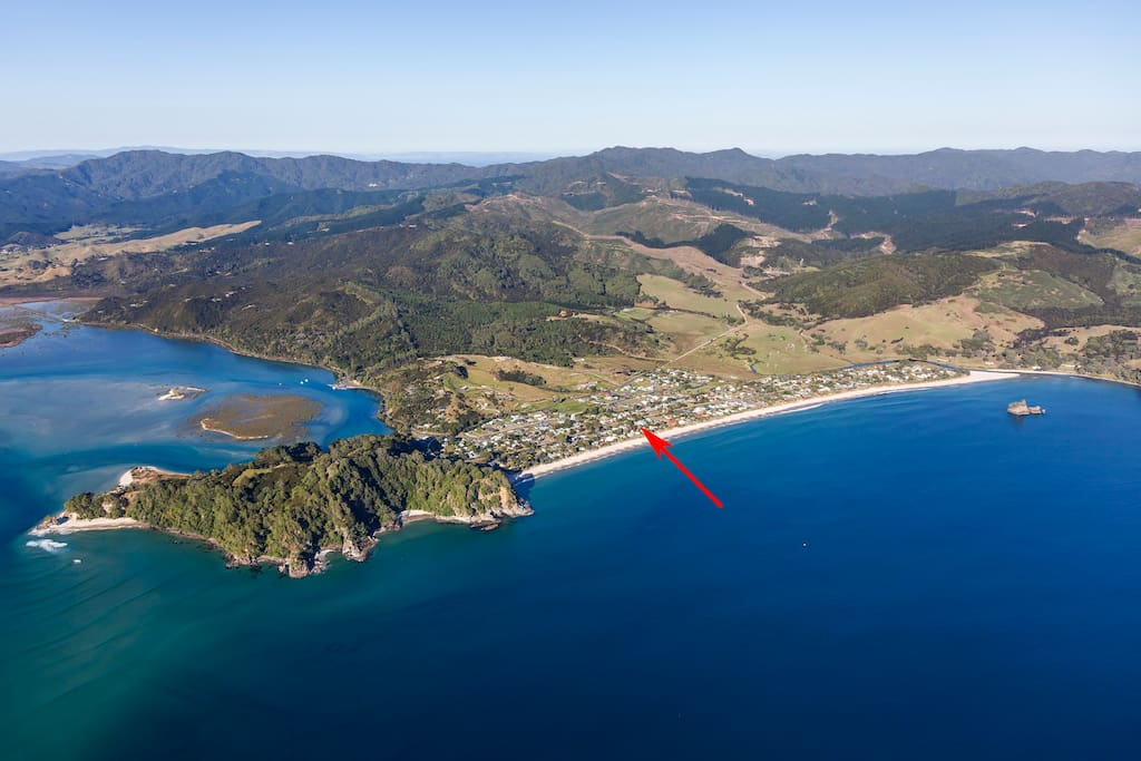 Whangapoua Beach and harbour
