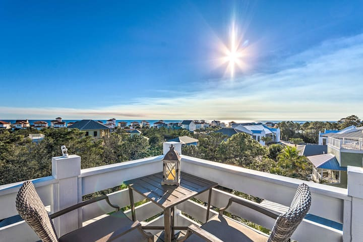 NEW! Santa Rosa Beach Oasis w/ Rooftop Deck Views!
