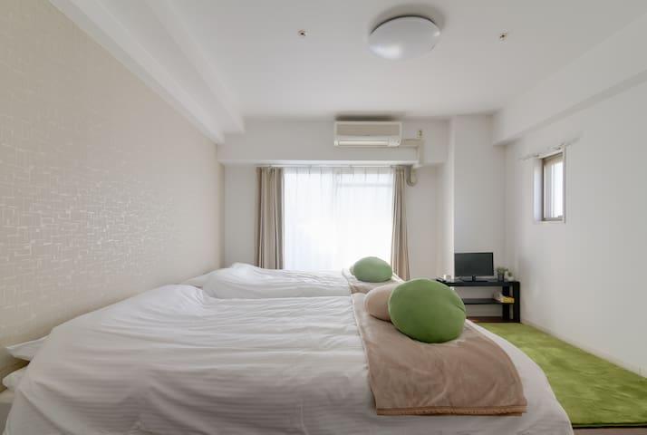 [BE/4]1min to NAMBA & FREE Wi-Fi - Ōsaka-shi - Lejlighed