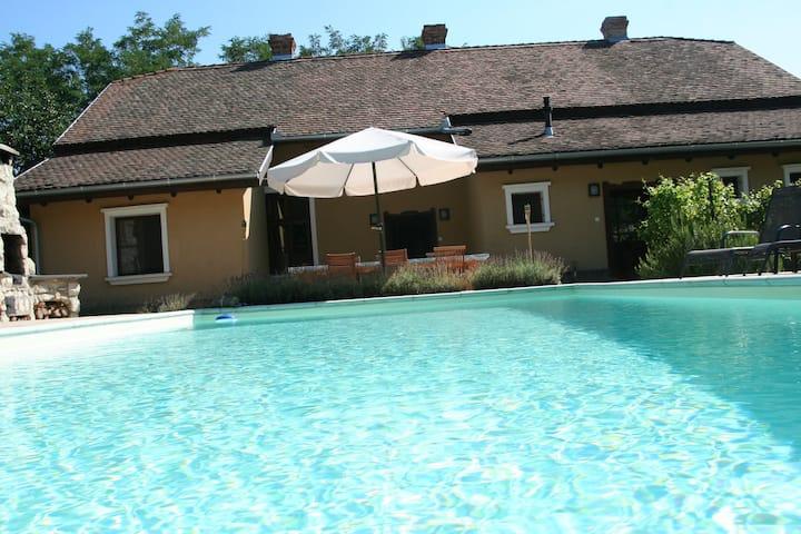 Vakantiehuis met prive zwembad bij Tiszameer