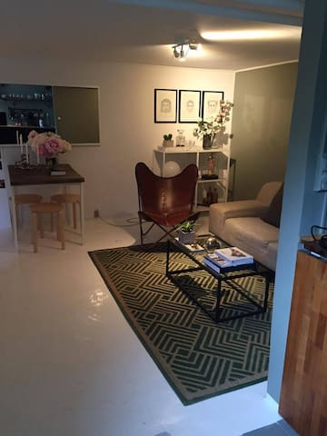 Charming 1 room basement apartment - Bagsværd - Daire