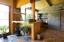 A shared kitchen in the main house.