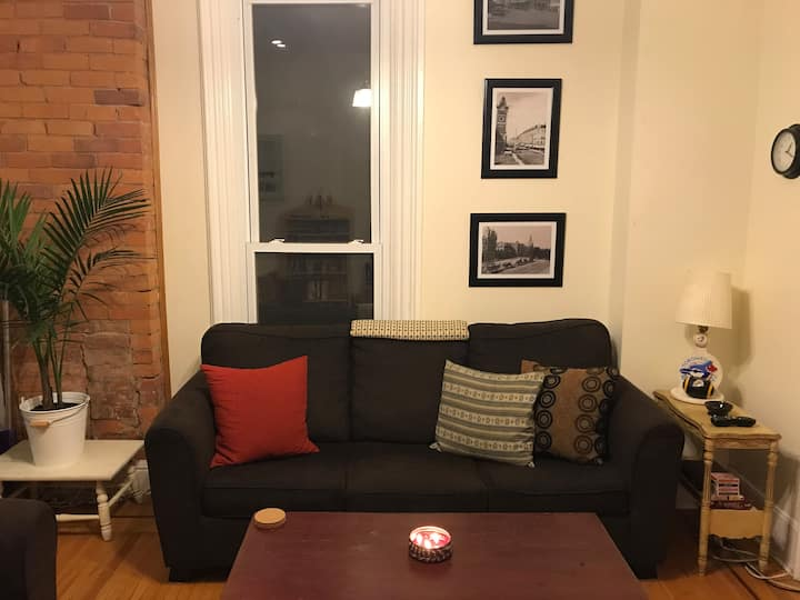 Private room in perfectly located downtown apt.