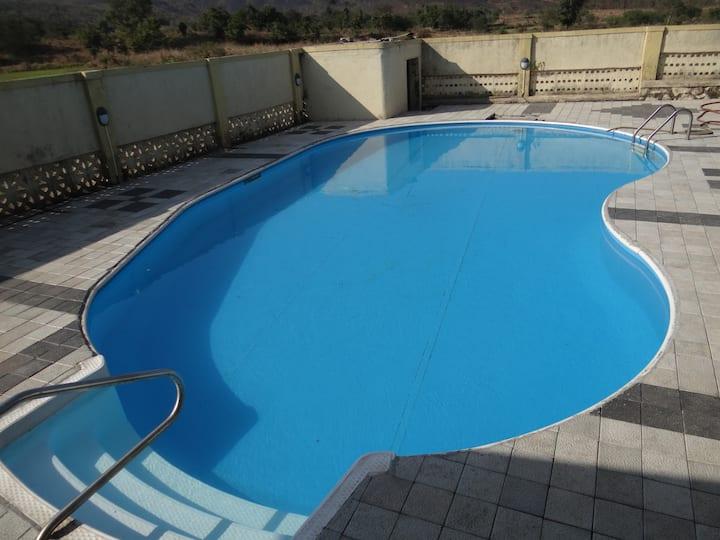 Private pool 2BHK forest villa, Nalambi