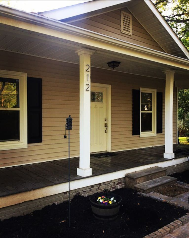 Huge front porch and open layout