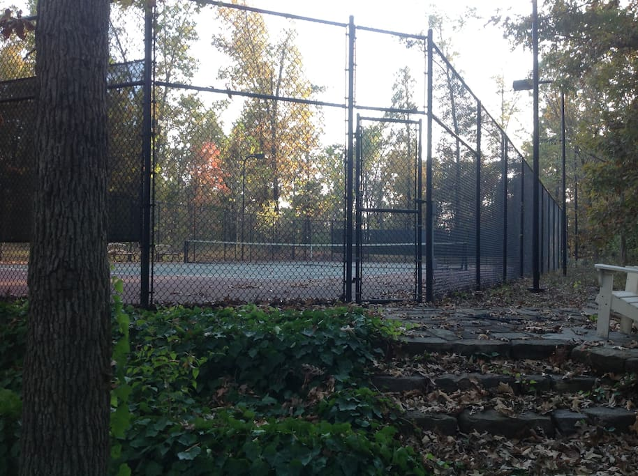 private tennis court available to all guests