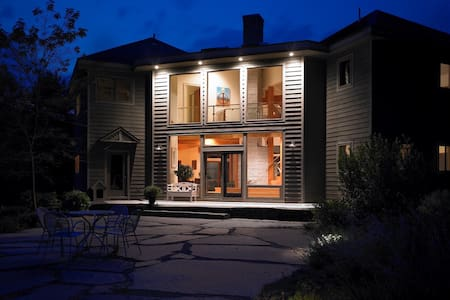 The Glass House at Meadow & Fern Mountaintop Villa - Shelburne Falls - 一軒家