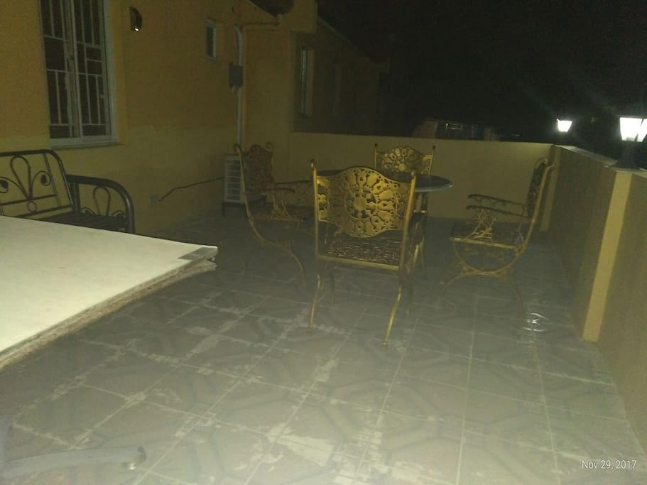 2nd terrace at the back of the house