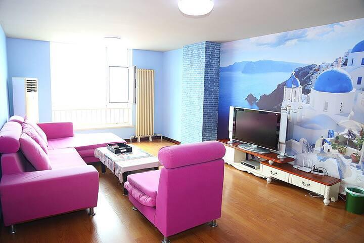 地中海大二居8人间 蓝石海景家庭公寓 栈桥火车站 - Qingdao - Departamento