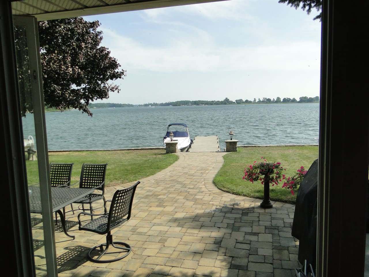 Waterfront with available boat docking and power