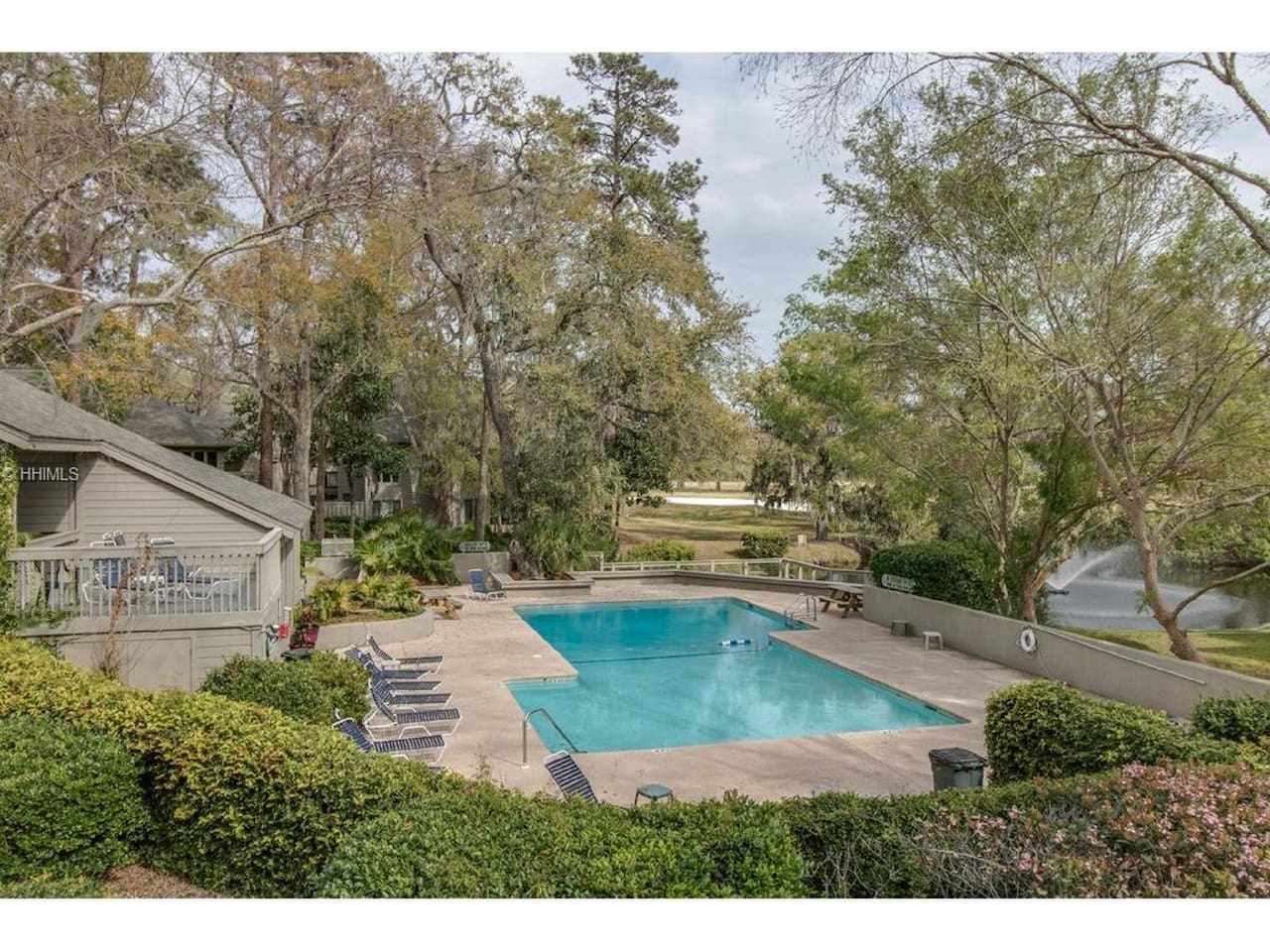 One of the best pools on the island.  Just steps away from condo. Large upper deck with bathrooms.