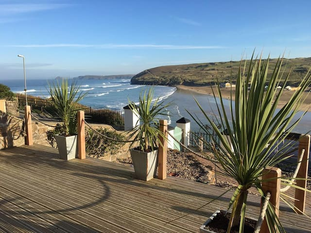 Stunning Sea Views from The Apartment by The Beach - Perranporth