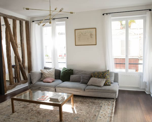 Appartement grand et cosy Canal St Martin