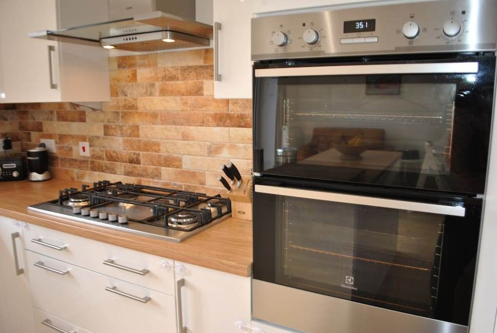 Full use of the well equipped kitchen with 6 ring hob and double oven