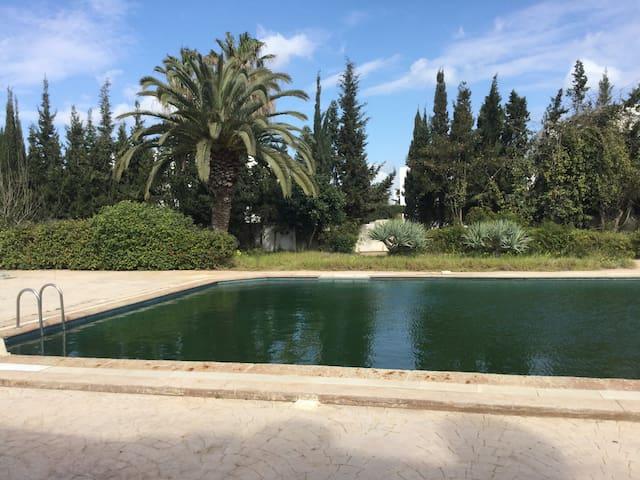 Joli S+1 piscine et plage privées Yasmine Hammamet - Yasmine Hammamet - Lejlighed