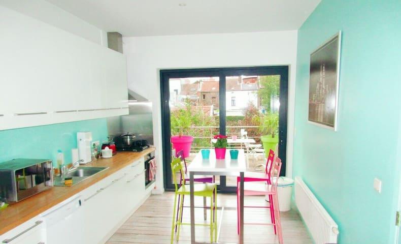 Duplex deux chambres avec terrasse - Liège - Huis