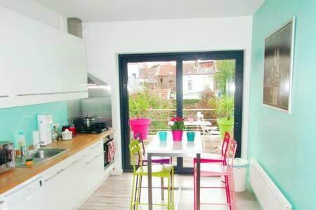 Duplex deux chambres avec terrasse - Liège - House