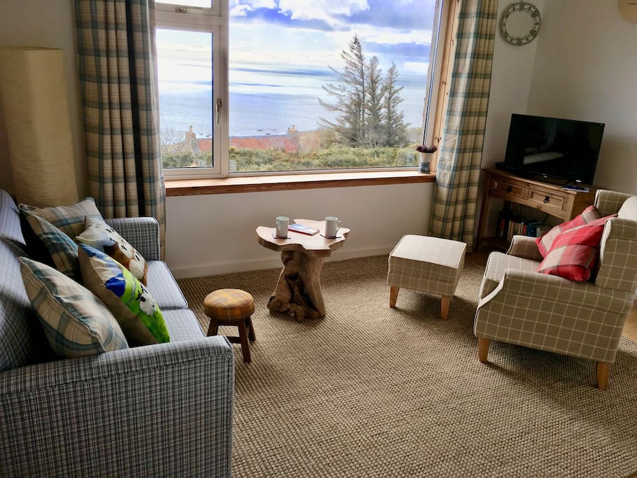 Looking out across the Moray Firth from the lounge area.