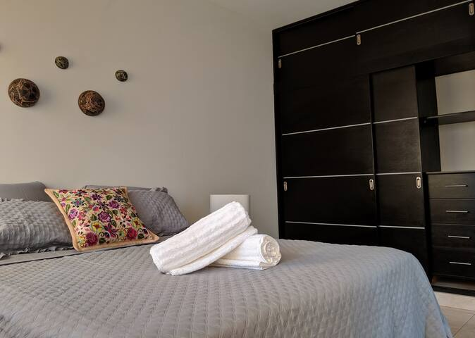 Roomy, cozy & tidy bedroom with private bathroom