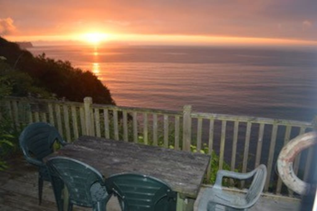 Beautiful sunsets with views of Lundy Island
